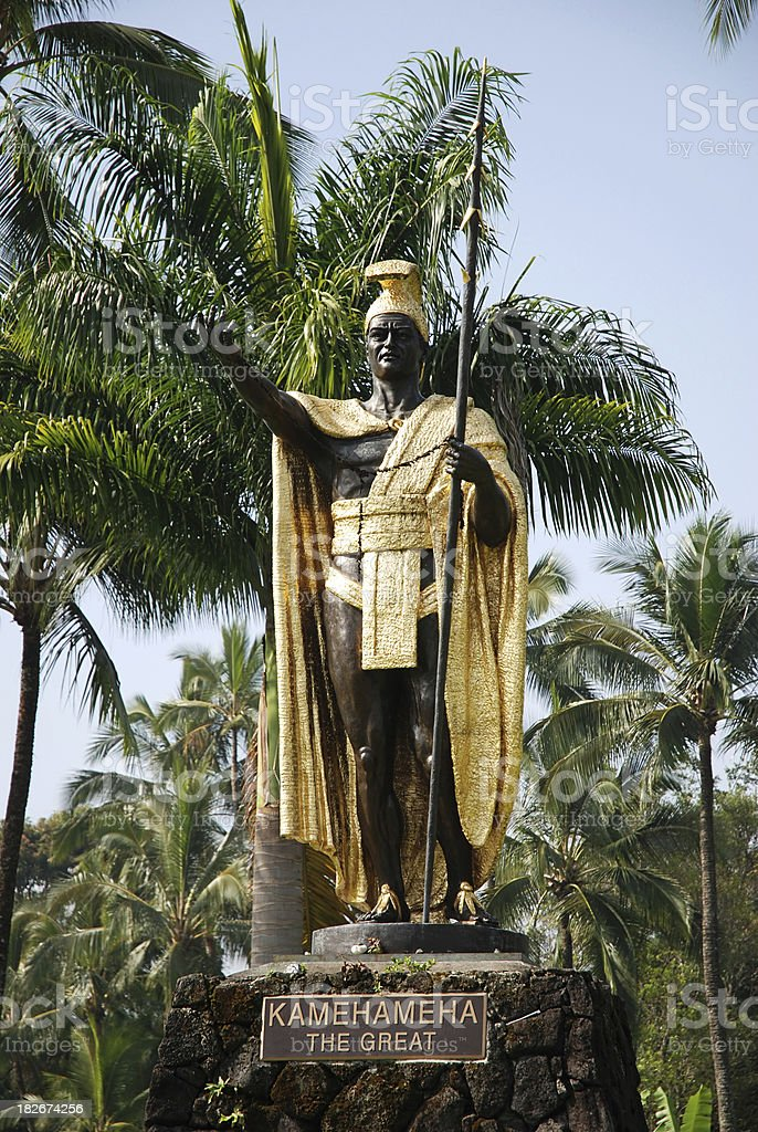 King Kamehameha, Hawaii stock photo
