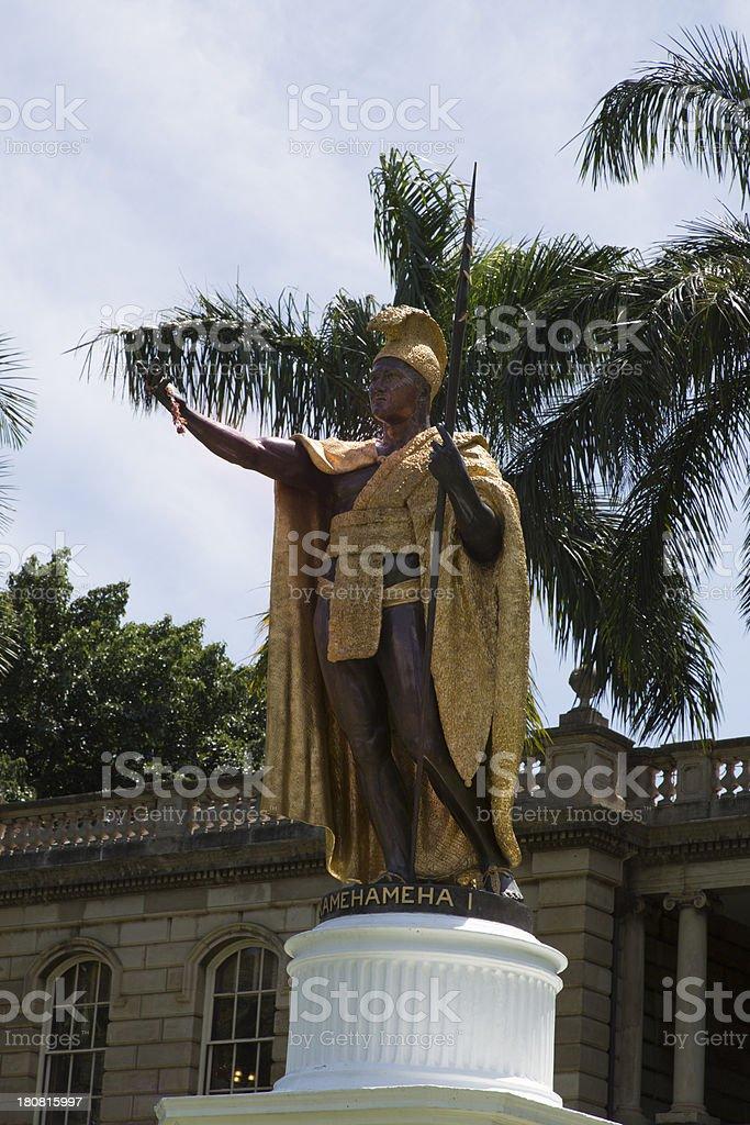 King Kamehameha Statue, Oahu, Hawaii royalty-free stock photo