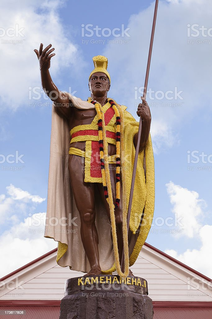 King Kamehameha Statue royalty-free stock photo