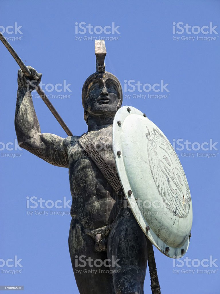 King Leonidas of Sparta stock photo