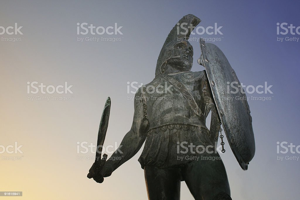 King Leonidas, Sparta stock photo