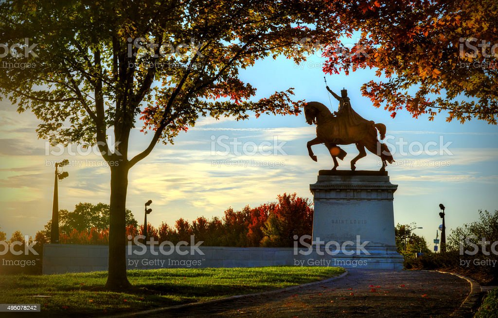 King Louis Statue in St. Louis, Missouri stock photo