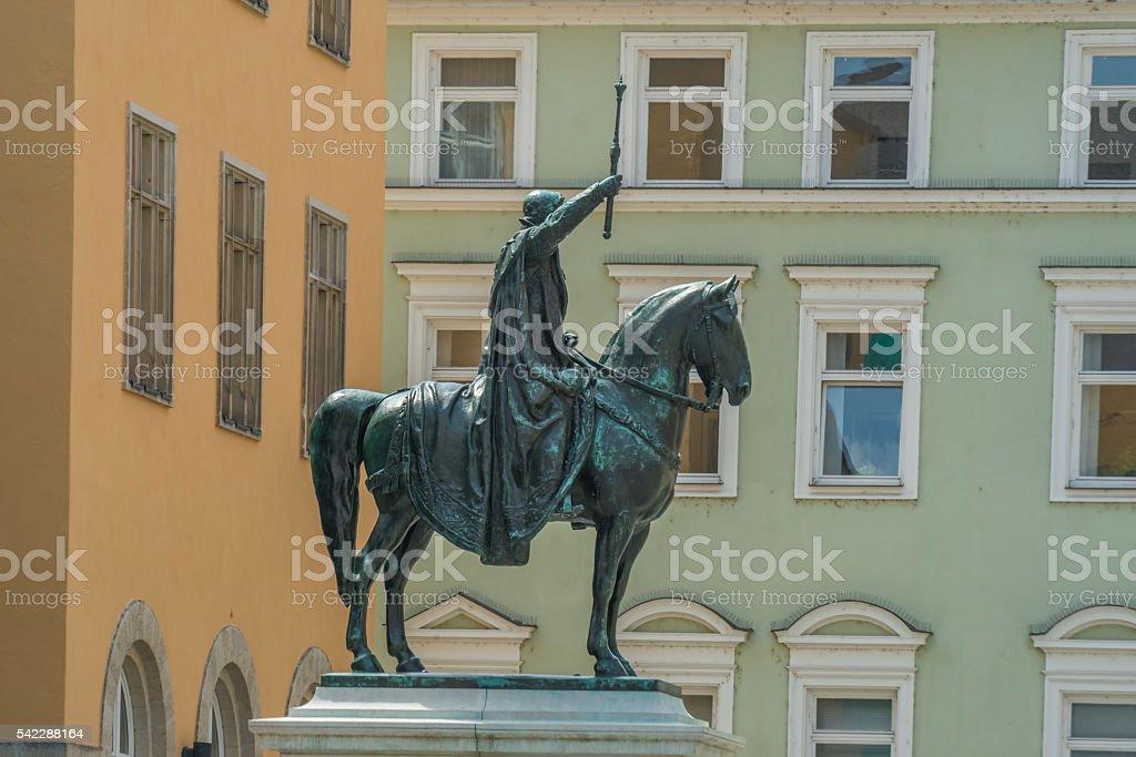 King Ludwig I monument in Regensburg stock photo