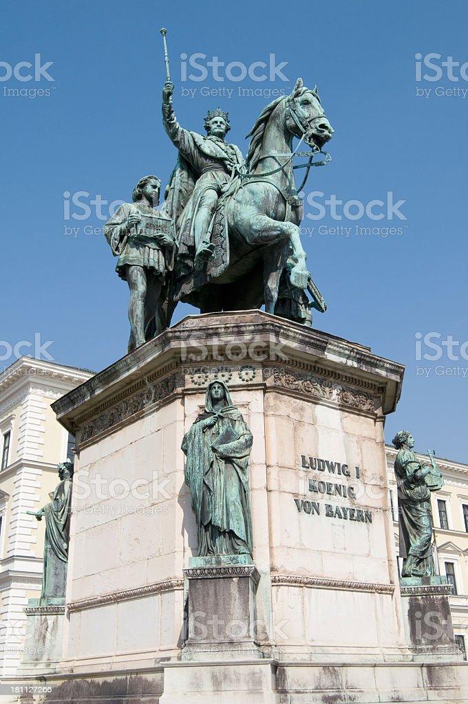 King Ludwig I. stock photo
