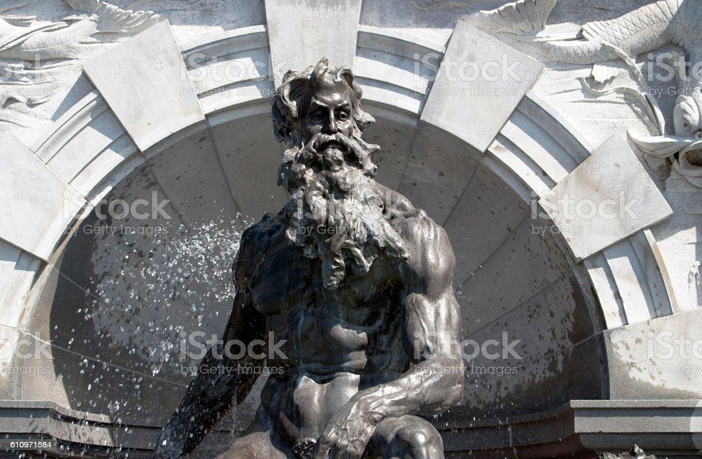 King Neptune stock photo
