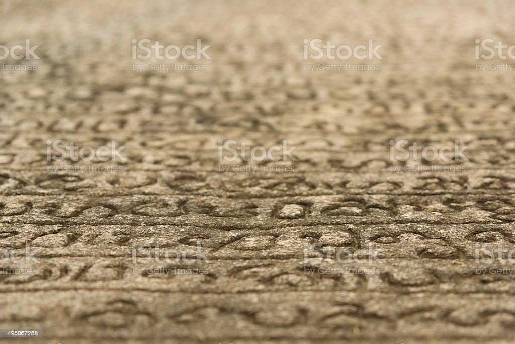 King Nissankamala's Stone Book stock photo