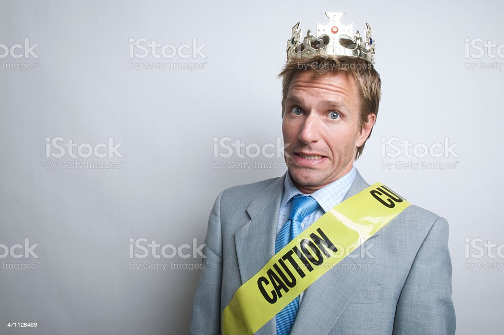 King of Caution w Crown stock photo
