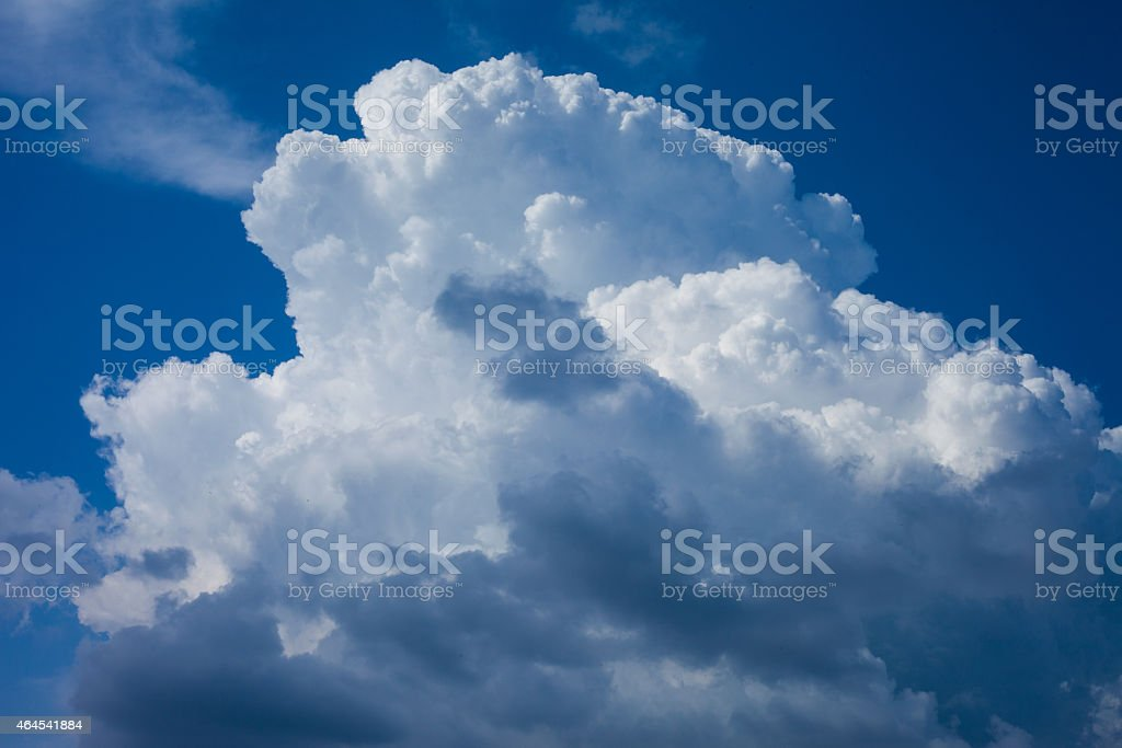 King of clouds in the sky stock photo