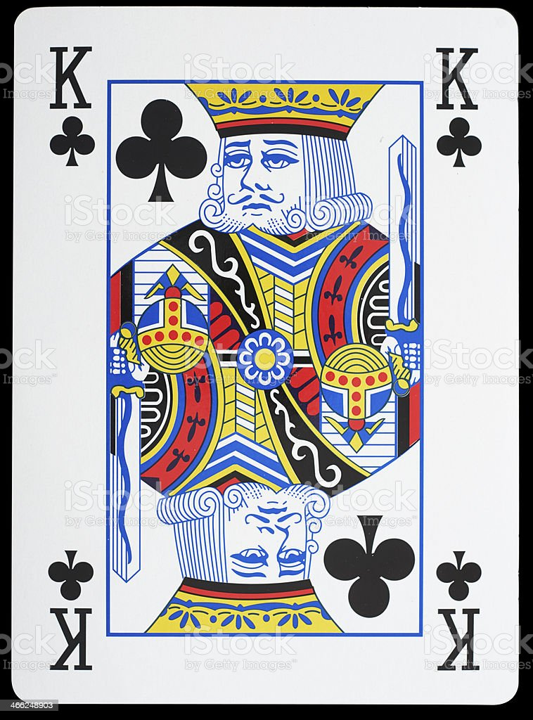 King Of Clubs stock photo