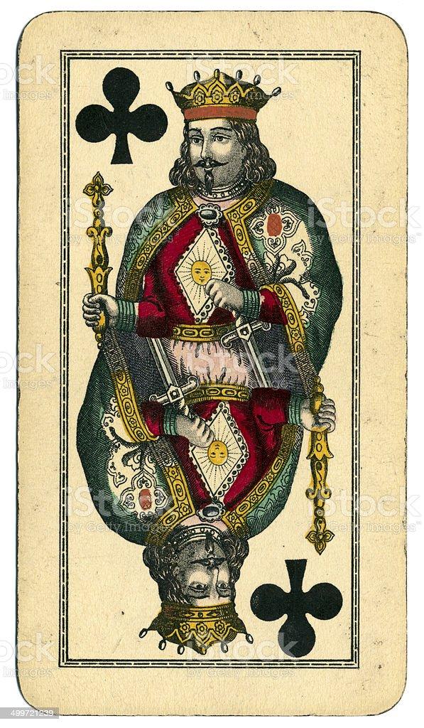 King of Clubs Tarot Austrian Taroch 1900 stock photo
