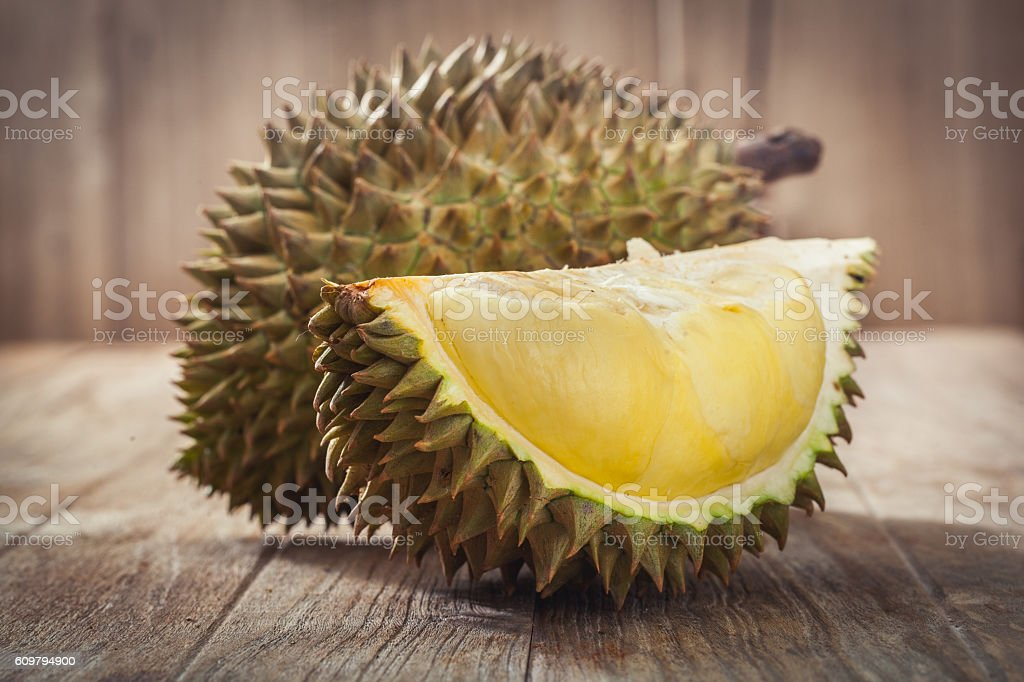 King of fruits stock photo