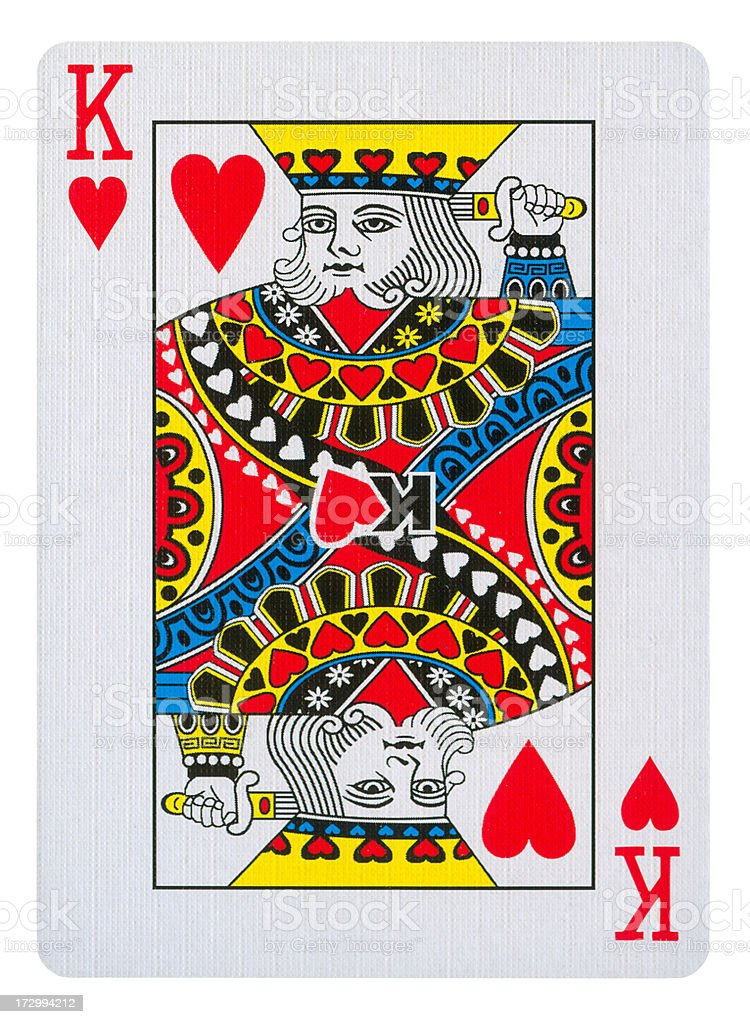 King Of Hearts Isolated (clipping path included) royalty-free stock photo