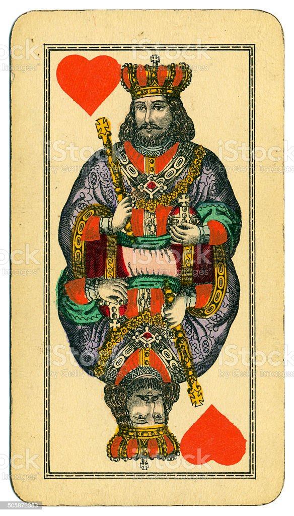 King of Hearts Tarot Austrian Taroch 1900 stock photo