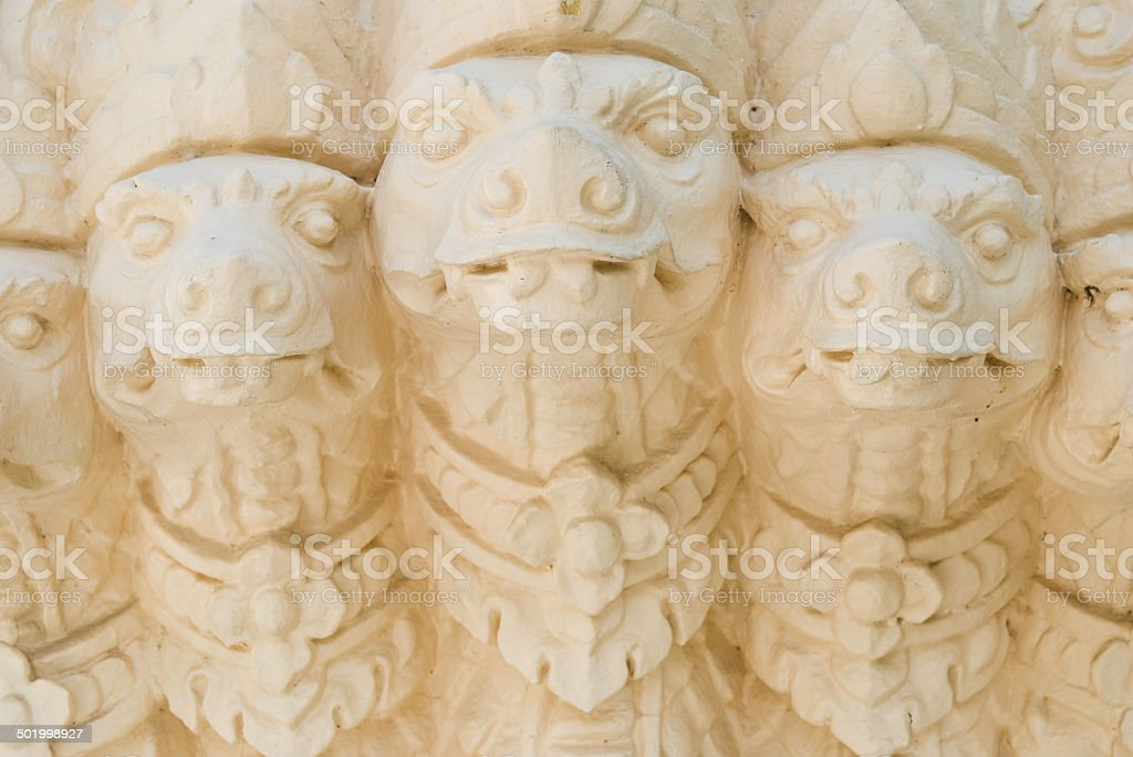 King of Nagas sculpture (Five Heads) stock photo