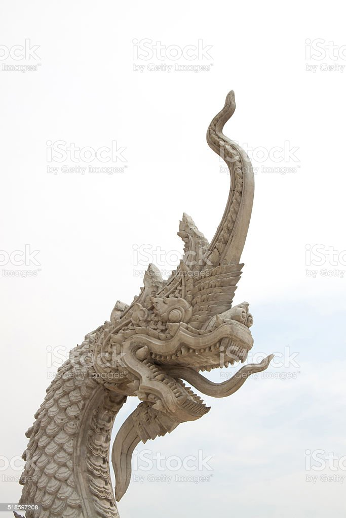 King of naka statue stock photo