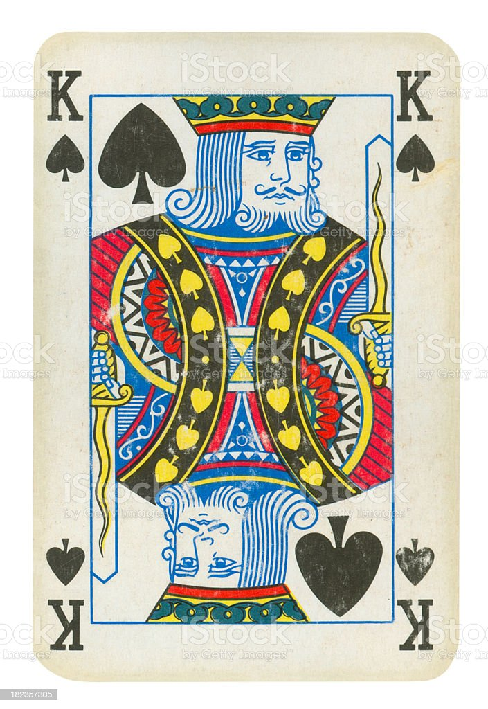 King Of Spades Isolated (clipping path included) stock photo
