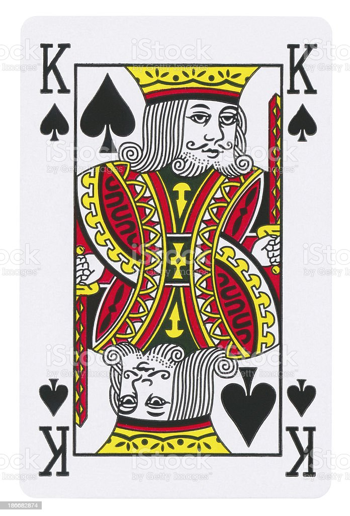 King Of Spades Isolated (clipping path included) royalty-free stock photo