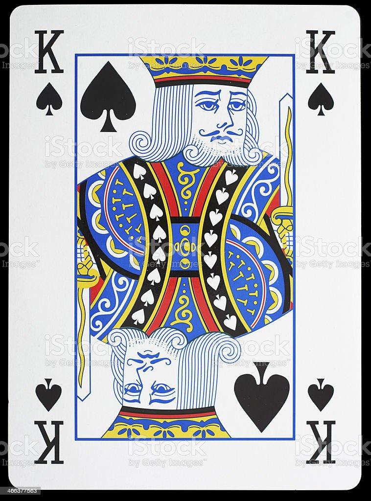 King of Spades stock photo