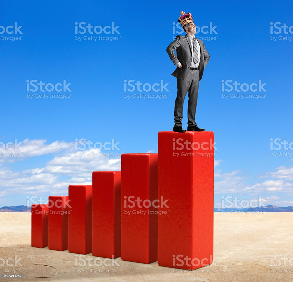 King Of The Hill stock photo