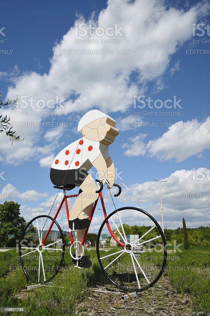 King of the Mountains Tour de France cyclist stock photo