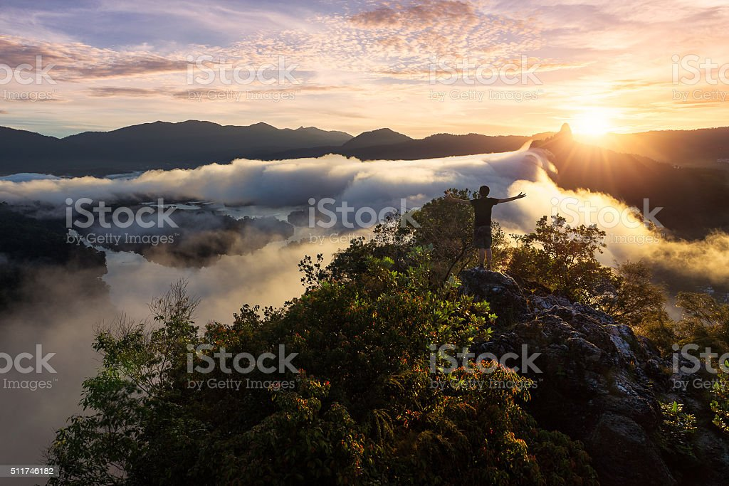 King Of The World stock photo