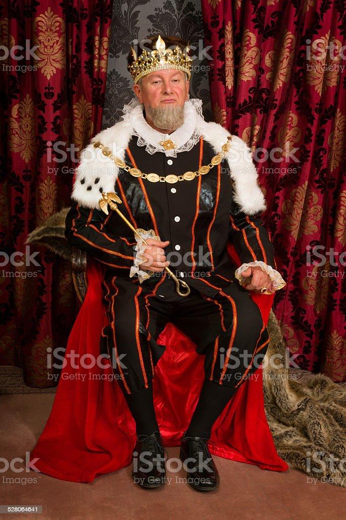 King on throne stock photo