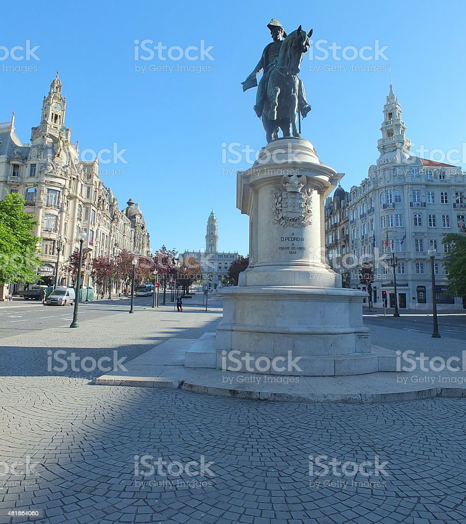 King Peter IV Of Portugal stock photo