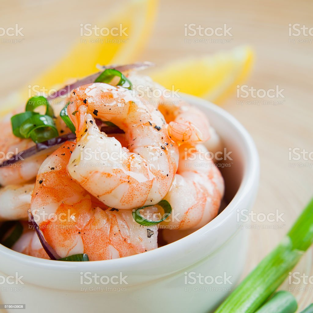 king prawn salad ceviche stock photo