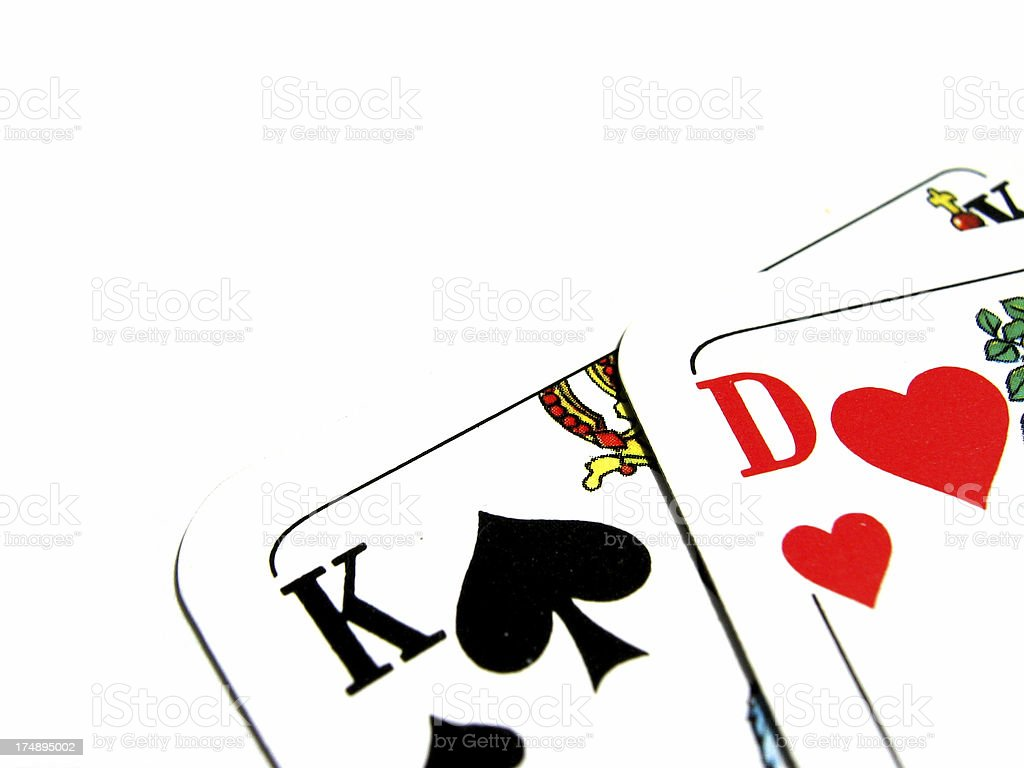King & Queen Cards royalty-free stock photo