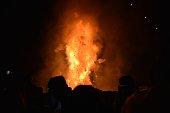 King Ravana Effigy on Fire