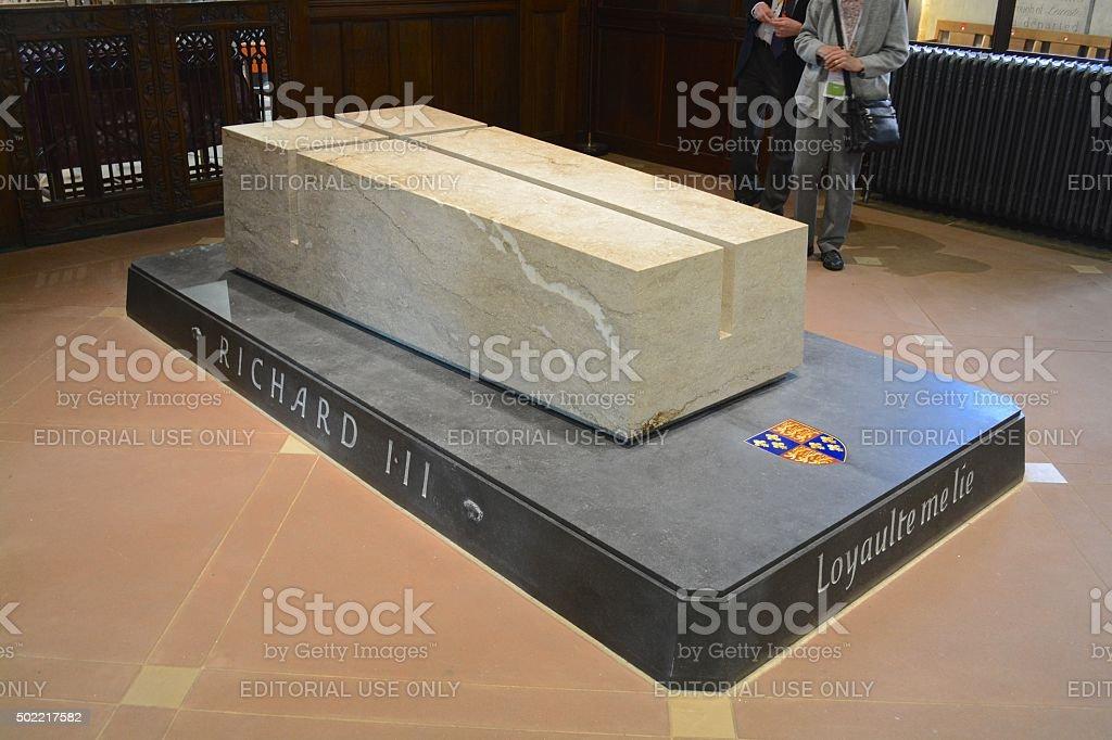 King Richard III Tomb stock photo