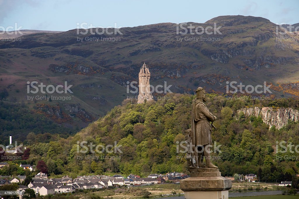 King Robert The Bruce and William Wallace stock photo