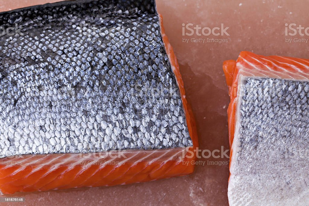 King Salmon Filets royalty-free stock photo