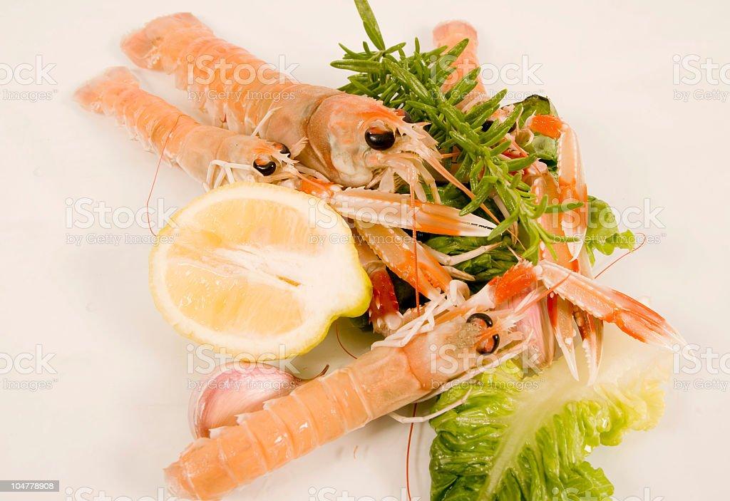 King shrimps stock photo
