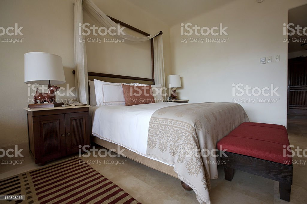King size bed royalty-free stock photo