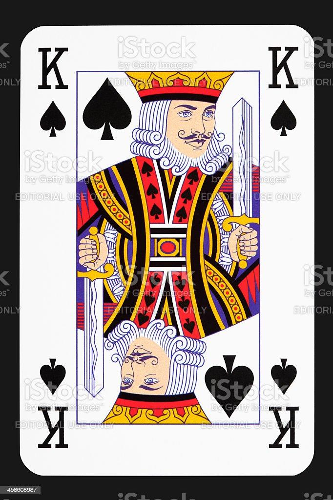 King spade stock photo