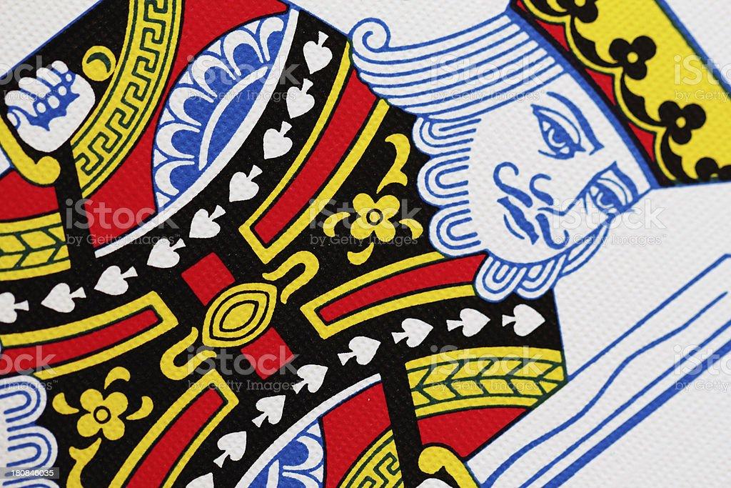 King Spade Playing Card Close Up stock photo