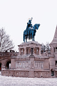 King st. Stephen statue in Budapest, Hungary