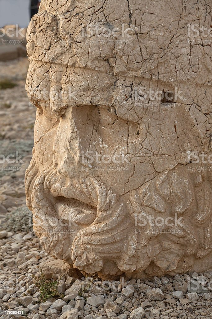 king statue at mount nemrut summit of kahya adiyaman turkey stock photo