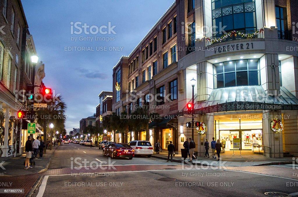 King Street, Charleston, South Carolina stock photo