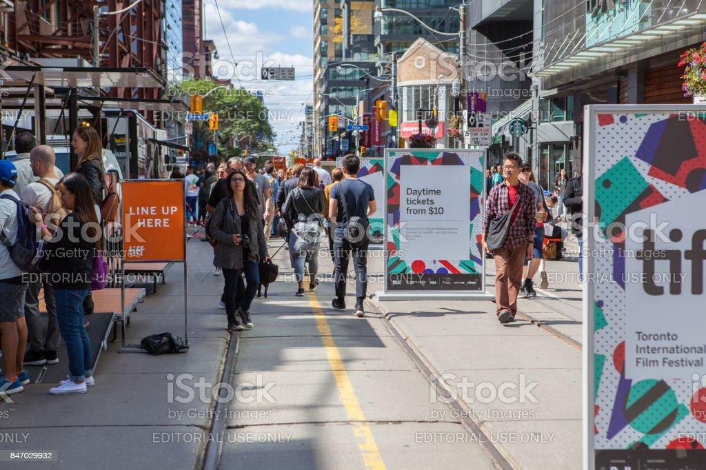 King Street during TIFF 2017 stock photo