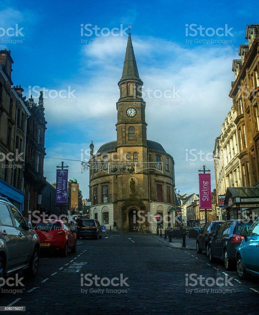 King Street in Stirling Scotland stock photo