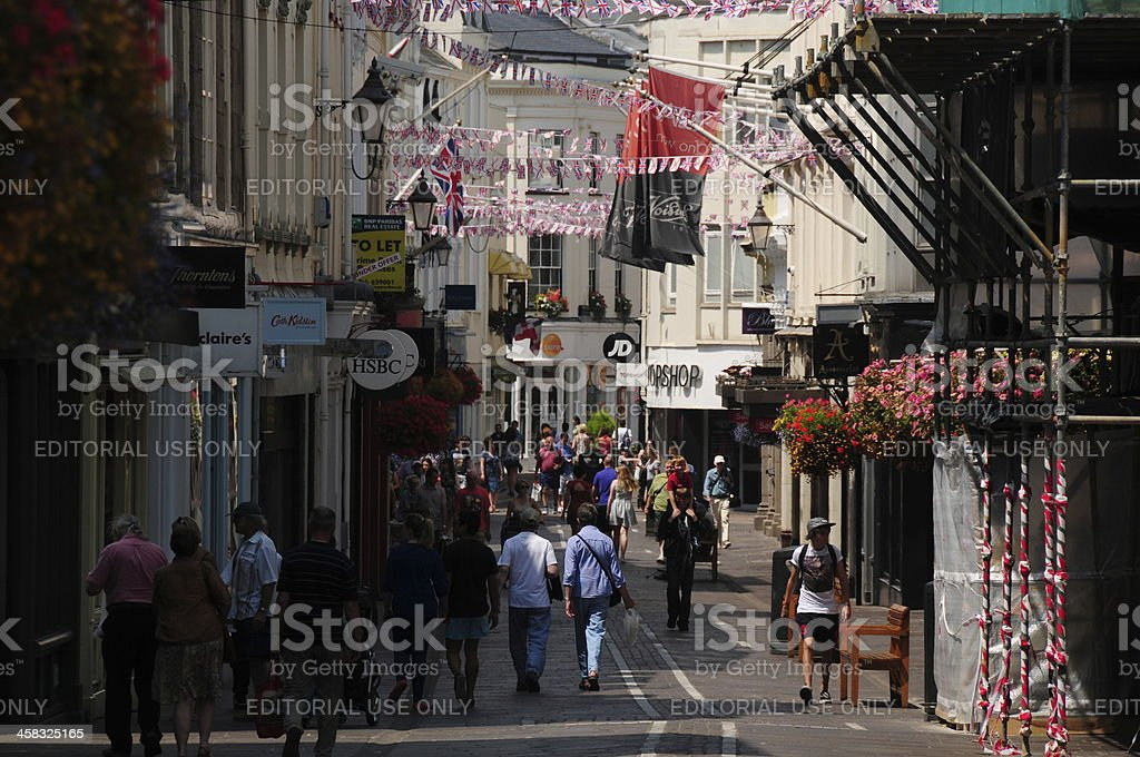 King Street, St.Helier, Jersey. royalty-free stock photo