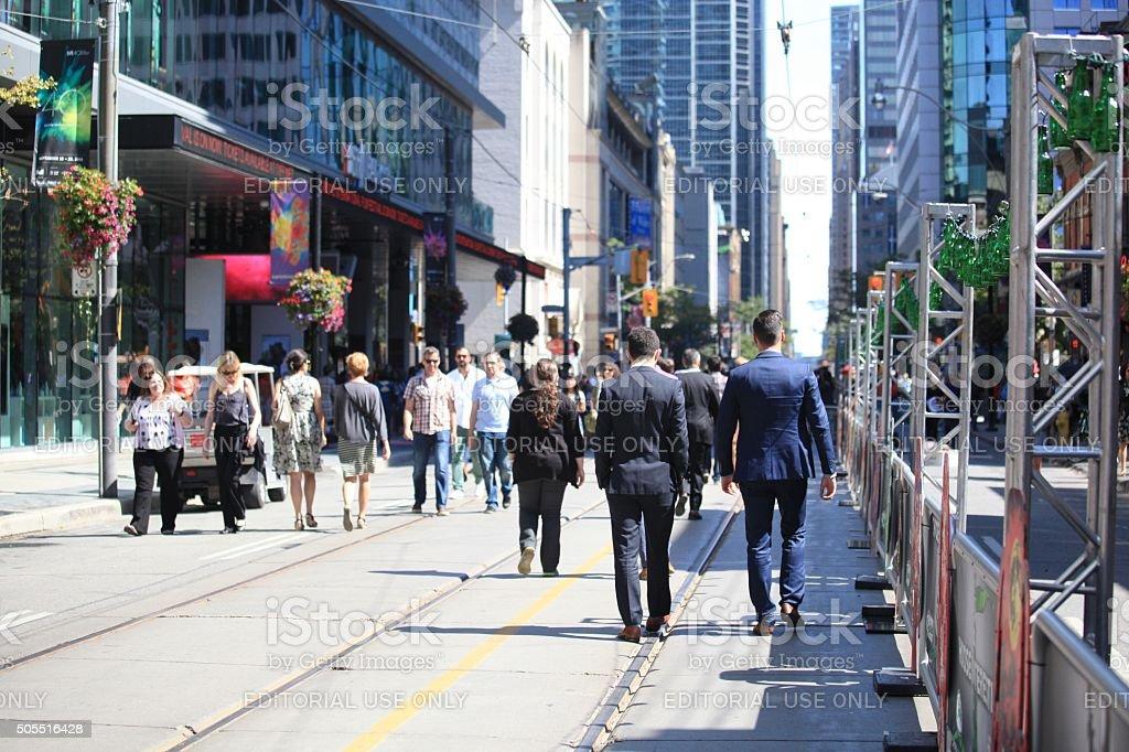 King Street Toronto stock photo