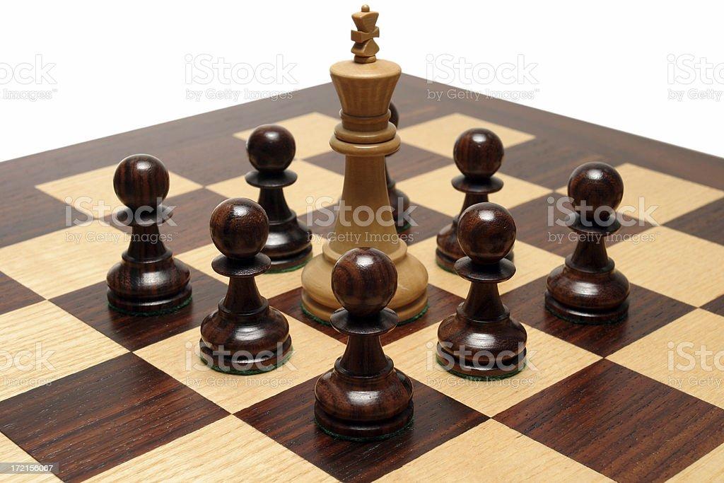 King surrounded stock photo