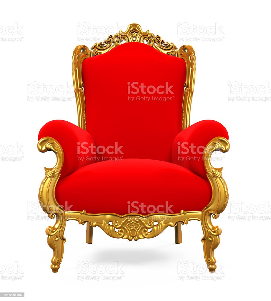 King Throne Chair stock photo