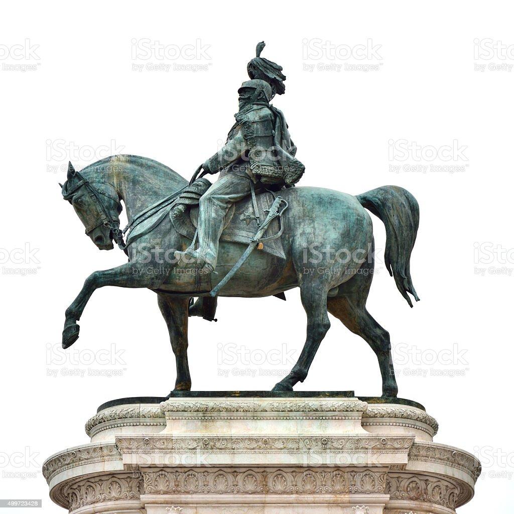 King Victor Emanuel II statue in Piazza Venezia, Rome stock photo