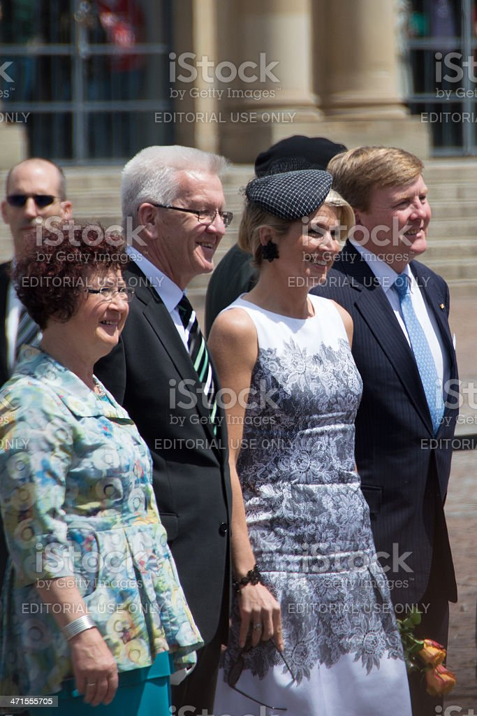 King Willem-Alexander and Maxima of the Netherlands stock photo