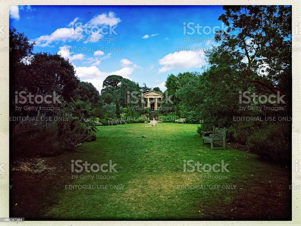 King William's Temple, Kew Gardens, London, UK stock photo