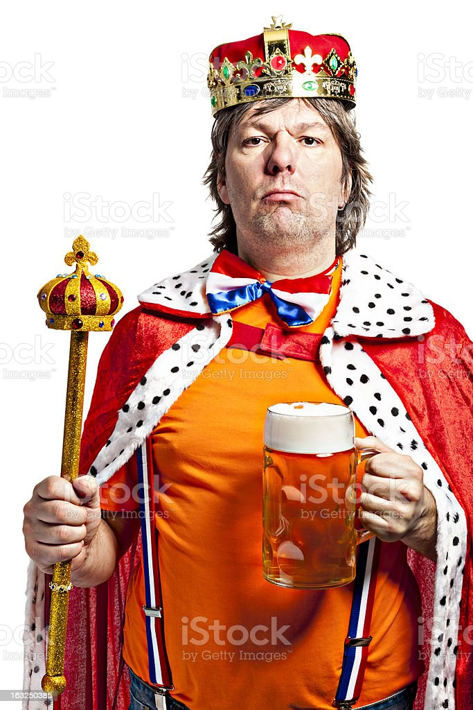 King with Beer stock photo